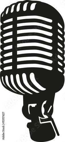 Retro vintag stage microphone