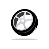 Vector Tyre Cartoon Illustration.
