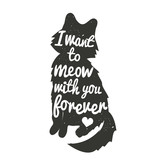 Vector inspiration typography with black cat silhouette and quote