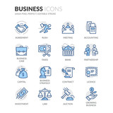 Line Business Icons - 113148473