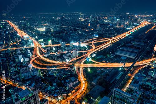 In de dag Bangkok Bangkok bei Nacht