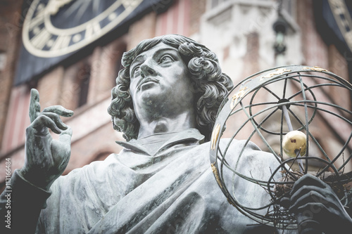 Monument of great astronomer Nicolaus Copernicus, Torun ...
