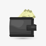 Money design. Financial item icon. White background, isolated illustartion