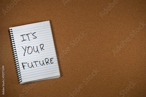 motivation concept - its your future Poster
