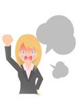 激しく怒る女性会社員