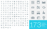 Fototapety 173 line icons