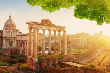 Forum - Roman ruins in Rome, Italy © neirfy