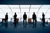 Businesspeople figures  in office