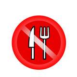 No eating sign, No Food Sign. Symbol prohibiting food in Ramadan