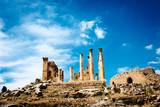 Colums of ancient Roman city of Gerasa,  Jerash, Jordan.