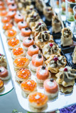 Assortment of canapes. - 113292056