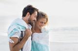 Romantic couple at beach - Fine Art prints