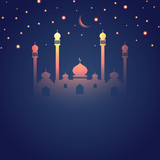 Glowing Ramadan themed Islamic design