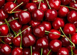 Cherry Background. Sweet organic cherries