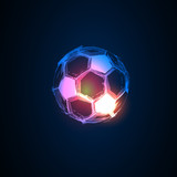 soccer light abstract france flags easy all editable