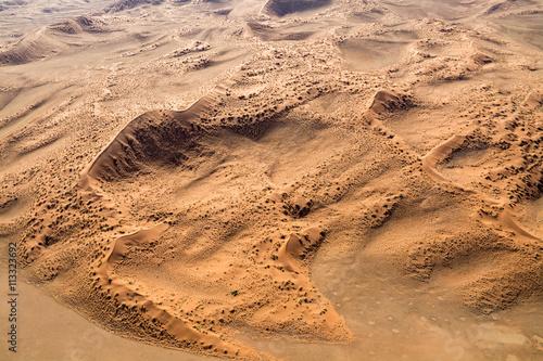 Fotobehang Overige Airwiev of the dunes of Sossusvlei, Namibia