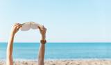 Reading on Beach - Fine Art prints