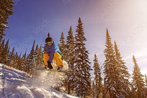 Poster Snowboarder jumping