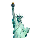 Fototapety Statue of Liberty in New York isolated on white
