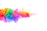 Fototapety Rainbow of Acrylic Ink in Water. Color Explosion