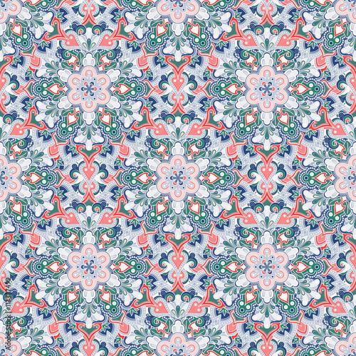 Boho Flower Pattern - 113377499