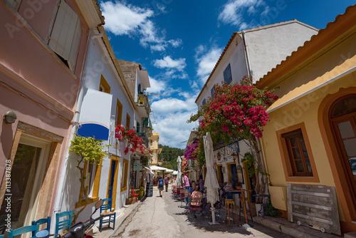 Along the narrow streets of Paxos island, Ionian Sea, Greece