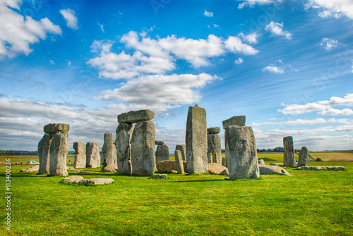 Stonehenge with Blue Sky Poster
