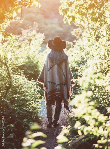 Poster Girl in sunny summer park