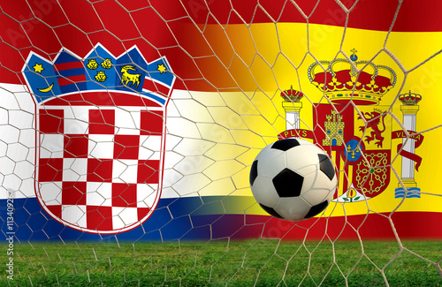 Soccer Euro 2016 ( Football )  Croatia and Span. Poster