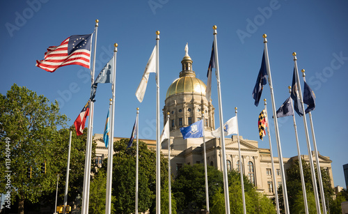 Plakat Atlanta Georgia State Capital Gold Dome City Architecture