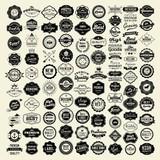100 Labels and Logotypes design set. Retro Typography, Premium Quality design. Badges, Logos, Borders, Arrows, Ribbons, Icons.