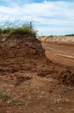 掘り下げられた土地