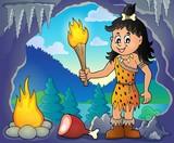 Cave woman theme image 1
