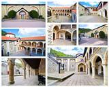 collage of Kykkos monastery Cyprus- famous religious places - Cyprus landmarks