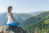 Young woman meditate