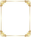 Gold frame vignette