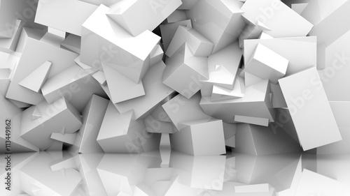 Fototapety, obrazy : abstract white background
