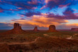 Monument Valley Arizona colorful sunset sky