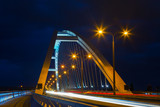 Apollo Bridge in Bratislava at night, Slovakia