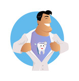 Doctor Dentist Character Design Flat