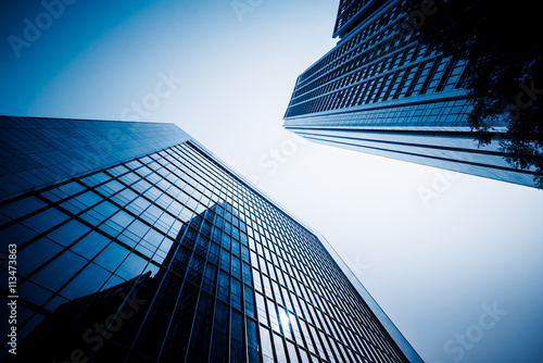 low angle view of skyscrapers,tianjin china.