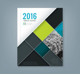 Fototapety Abstract geometric square shape design template for business annual report /book cover /poster /Brochure /Flyer