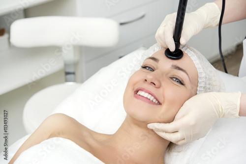 Fototapeta Facial skincare procedure
