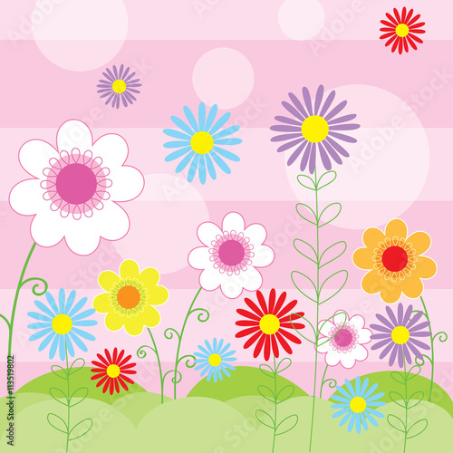 Obraz floral background with cute flower design