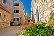 Mediterranean town of Pirovac stone street