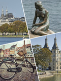 Collage of Copenhagen ( Denmark ) images - travel background (my