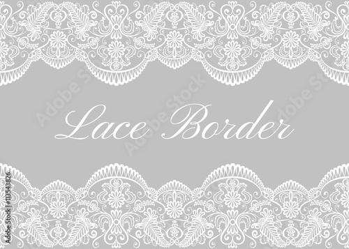 White lace borders - 113543826