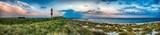 Sylt am Strand Panorama Abendstimmung am Leuchtturm - 113546643