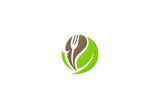 food organic fork logo