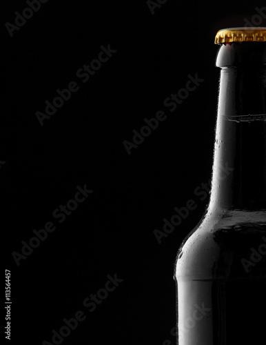 Zdjęcia na płótnie, fototapety, obrazy : Partial cold beer with condensation as a border